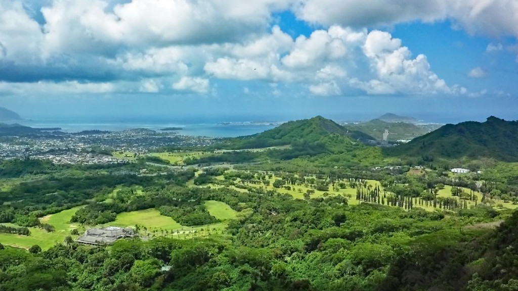 View of Ko'olau and Pali course courses