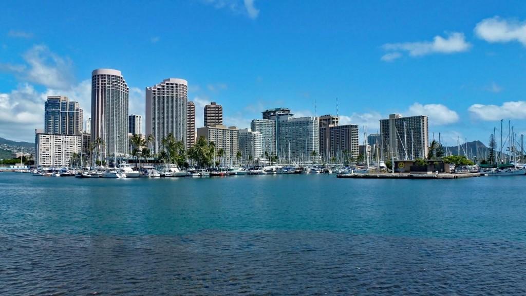 View of Waikiki from Ala Moana Beach Park