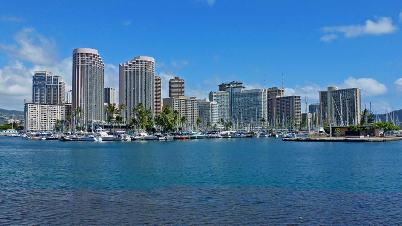 View of Waikiki hotels