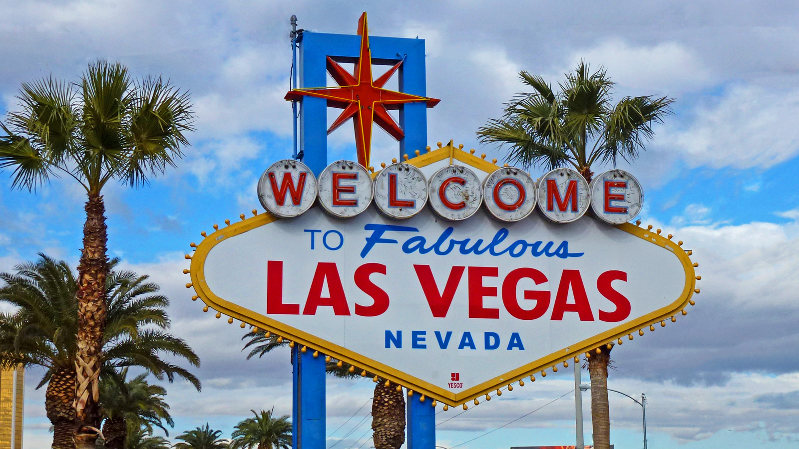 The iconic Welcome to Las Vegas sign on The Strip