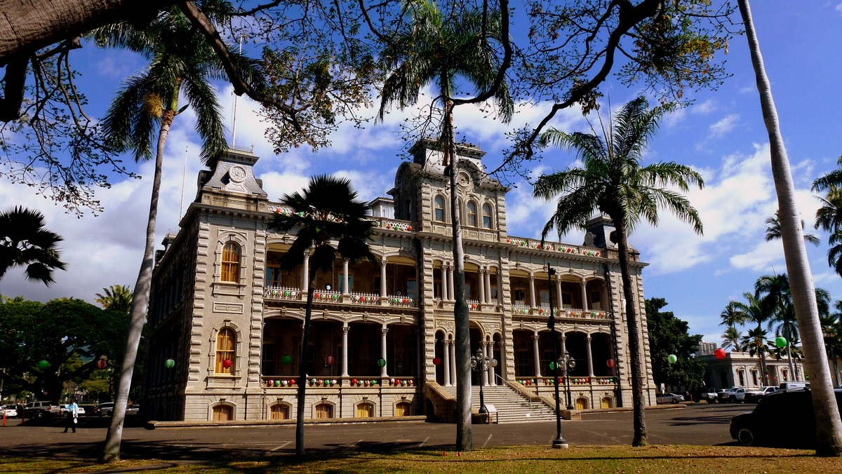 Iolani Palace in Honolulu, one of the many unique attractions in Hawaii.